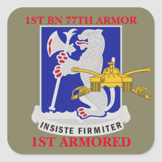 1ST BATTALION 77TH ARMOR 1ST ARMORED STICKERS