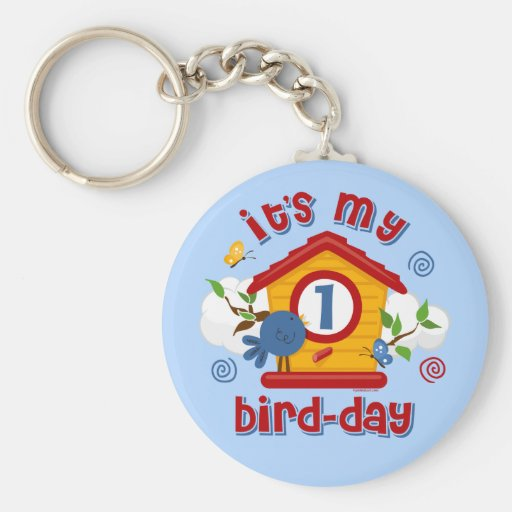 1st Bird Day Keychain
