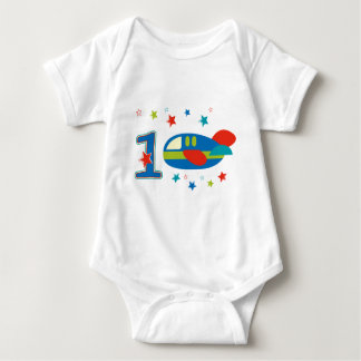 1st Birthday Airplane Baby Bodysuit