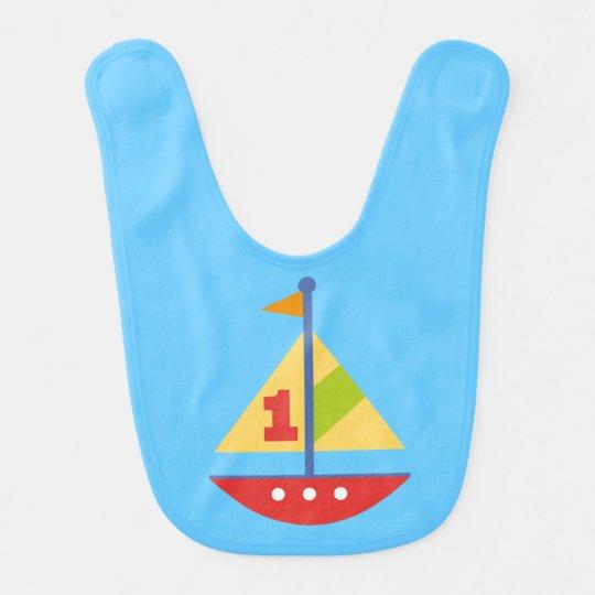1st Birthday Bib (Sailboat)