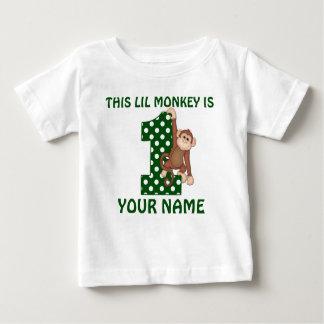 1st Birthday Boy Monkey Personalized Shirt
