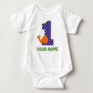 1st Birthday Boy Whale Personalized Shirt