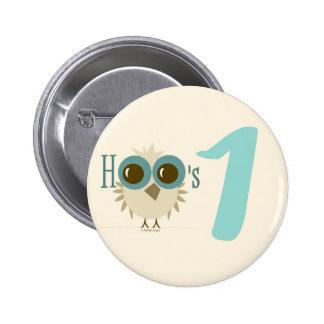 1st Birthday Button 12 month birthday boy