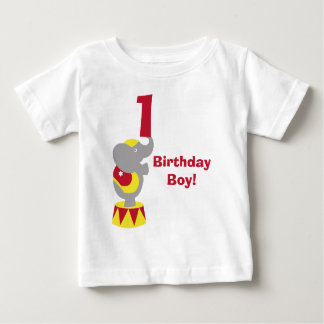 1st Birthday Circus Elephant T-Shirt