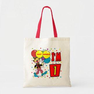 1st Birthday Clown Birthday Tote Bag