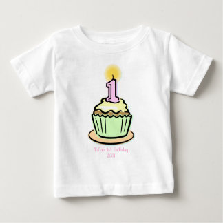 1st Birthday - Cupcake Baby T-Shirt