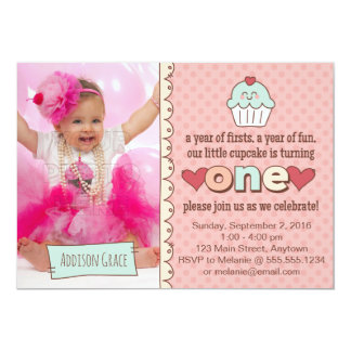 1st Birthday Cupcakes Invitation