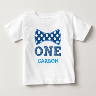 1st Birthday - Custom Name -Bow Tie Baby T-Shirt