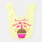 1st Birthday - Customizable Girls Baby Bib
