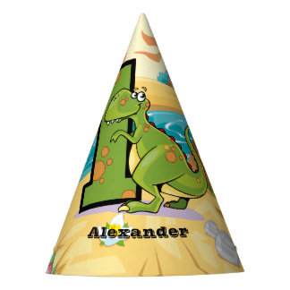 1st Birthday Dinosaur Party Hat