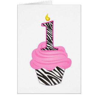 1st Birthday Diva Cupcake Card