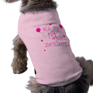 1st Birthday Dog Shirt