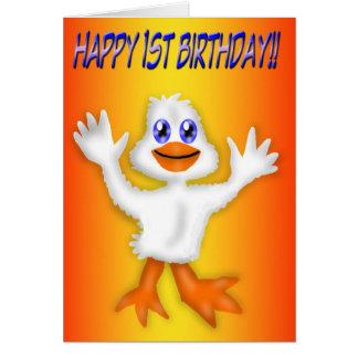 1st Birthday Duck Card