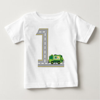 1st Birthday Garbage Truck Baby T-Shirt