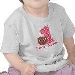 1st Birthday Girl Owl Personalized T-shirt