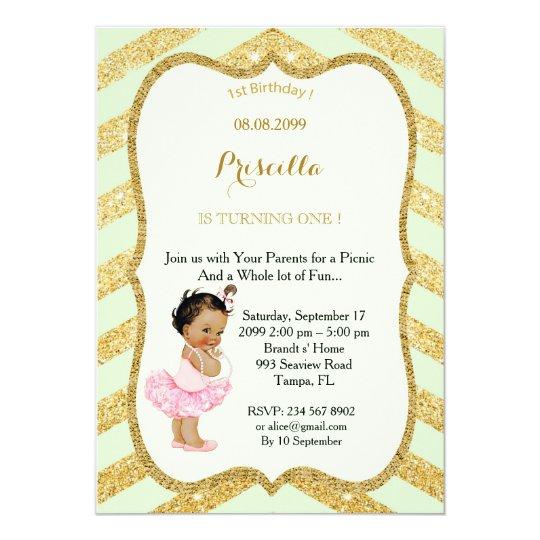1st Birthday GIRL,Picnic 1st Birthday,1st Birthday Card