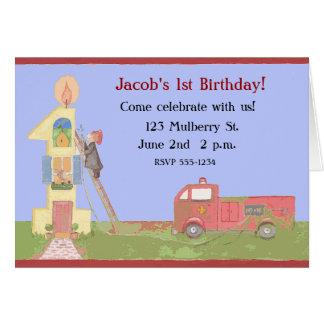 1st Birthday Invitations Greeting Card