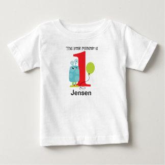 1st Birthday Little Monster Blue Baby T-Shirt