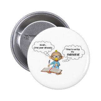 1st birthday memoirs 2 inch round button