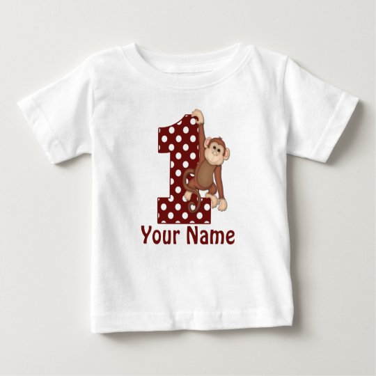 1st Birthday Monkey T-Shirt