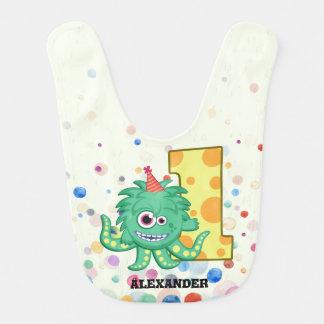1st Birthday Monster Party Custom Bib