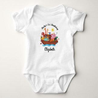 1st Birthday Noah's Ark Personalized Baby T-shirt