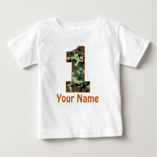 1st Birthday Personalized Camo Shirt