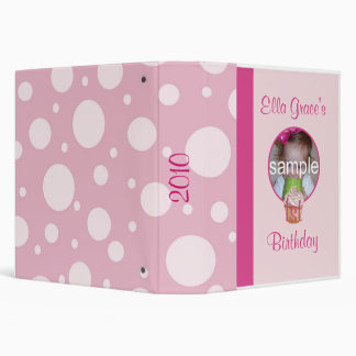 1st Birthday Photo Album 3 Ring Binder