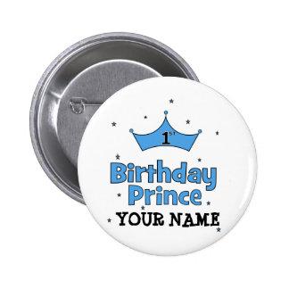 1st Birthday Prince 2 Inch Round Button