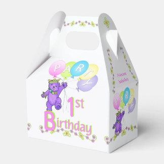 1st Birthday Princess Bear Custom Favor Box