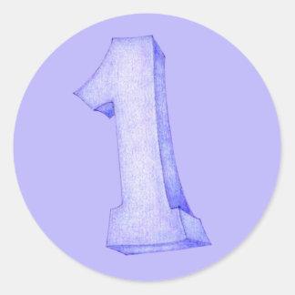 1st Birthday purple Sticker