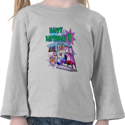 1st Birthday Space Birthday T Shirts