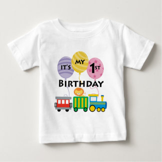 1st Birthday Train Birthday Baby T-Shirt