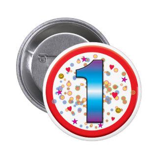 1st Birthday v2 2 Inch Round Button