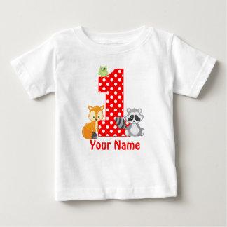 1st Birthday Woodland Personalized T-shirt