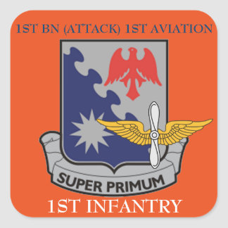 1ST BN (ATTACK) 1ST AVIATION 1ST INFANTRY STICKERS