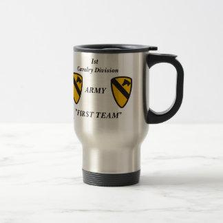 1st cav me travel mug