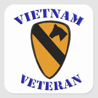 1st Cav Vietnam Veteran Square Sticker