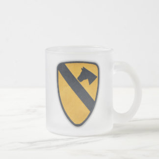 1st Cavalry Air Cav Airmobile Fort Hood Veterans Frosted Glass Coffee Mug