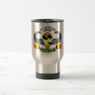 1st Cavalry-Airmobile, Vietnam Travel Mug