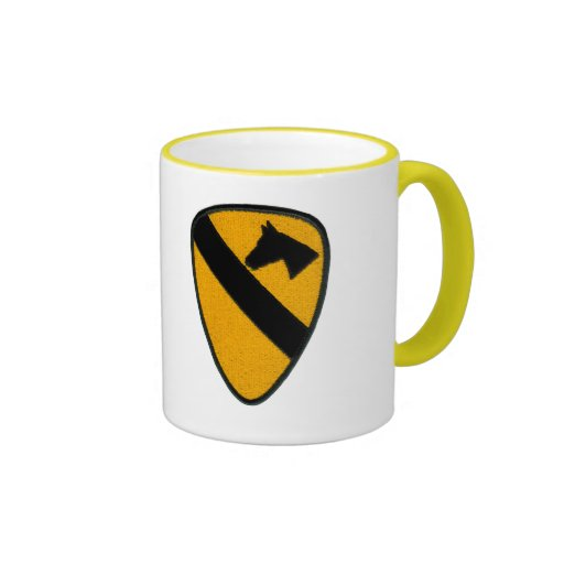 1st Cavalry Army Patch on Mug