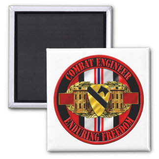 1st Cavalry Division Engineer OEF Magnet