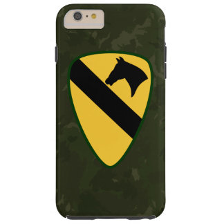 "1st Cavalry Division ""First Team"" Dark Green Camo Tough iPhone 6 Plus Case"