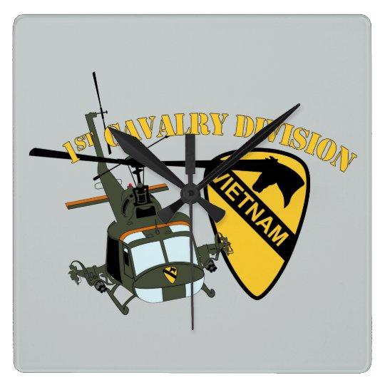 1st Cavalry Division - Vietnam - Huey Wall Clock