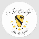 1st Cavalry, Live the Legend Gold Stickers