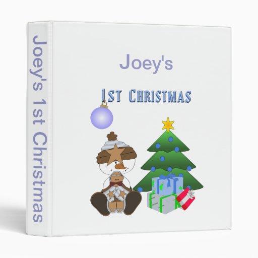 1st Christmas (Boy) Photo Album or Scrapbook Binder