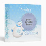 1st Christmas Snowman Memories 1 Avery Binder