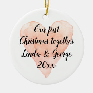 1st Christmas together couple's xmas tree ornament