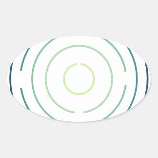 1st Circle Oval Sticker