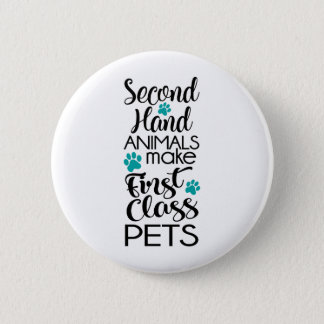 1st Class Pets 2 Inch Round Button